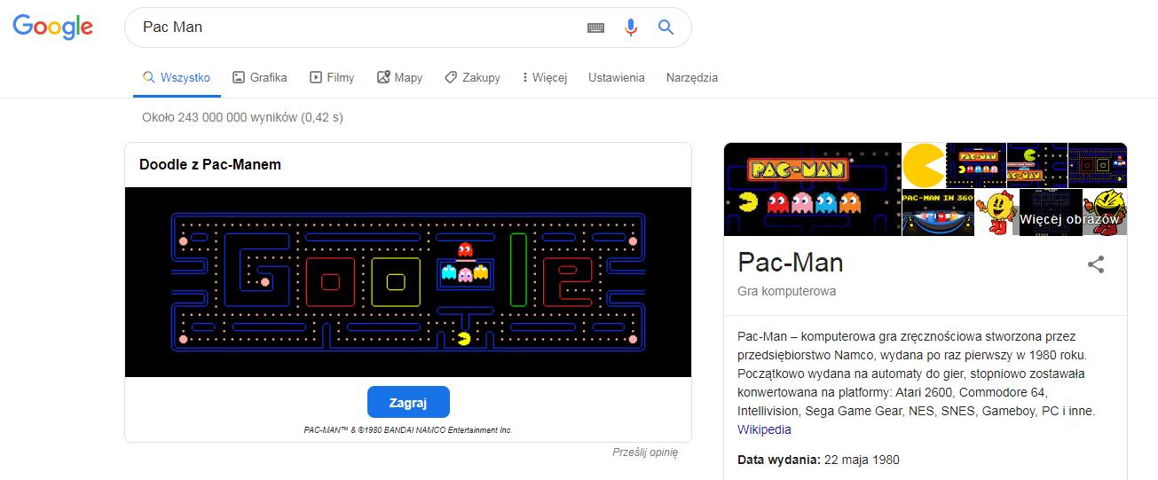 gry google pac man