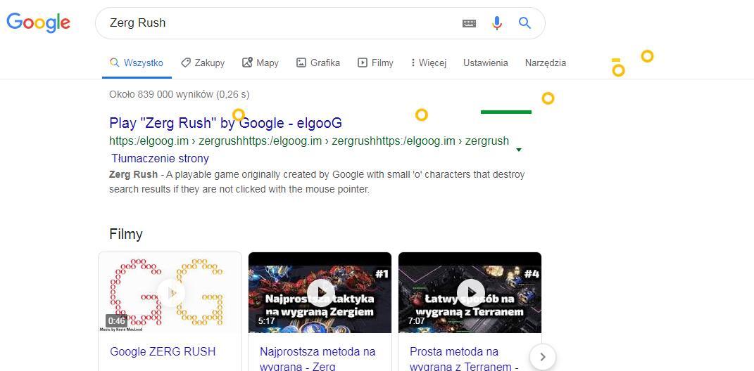 gry google zerg rush